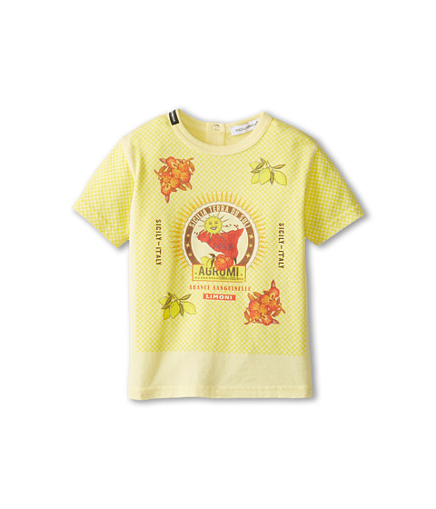 Dolce & Gabbana - Orange Map T-Shirt (Infant) (Multi) Men's Short Sleeve Pullover
