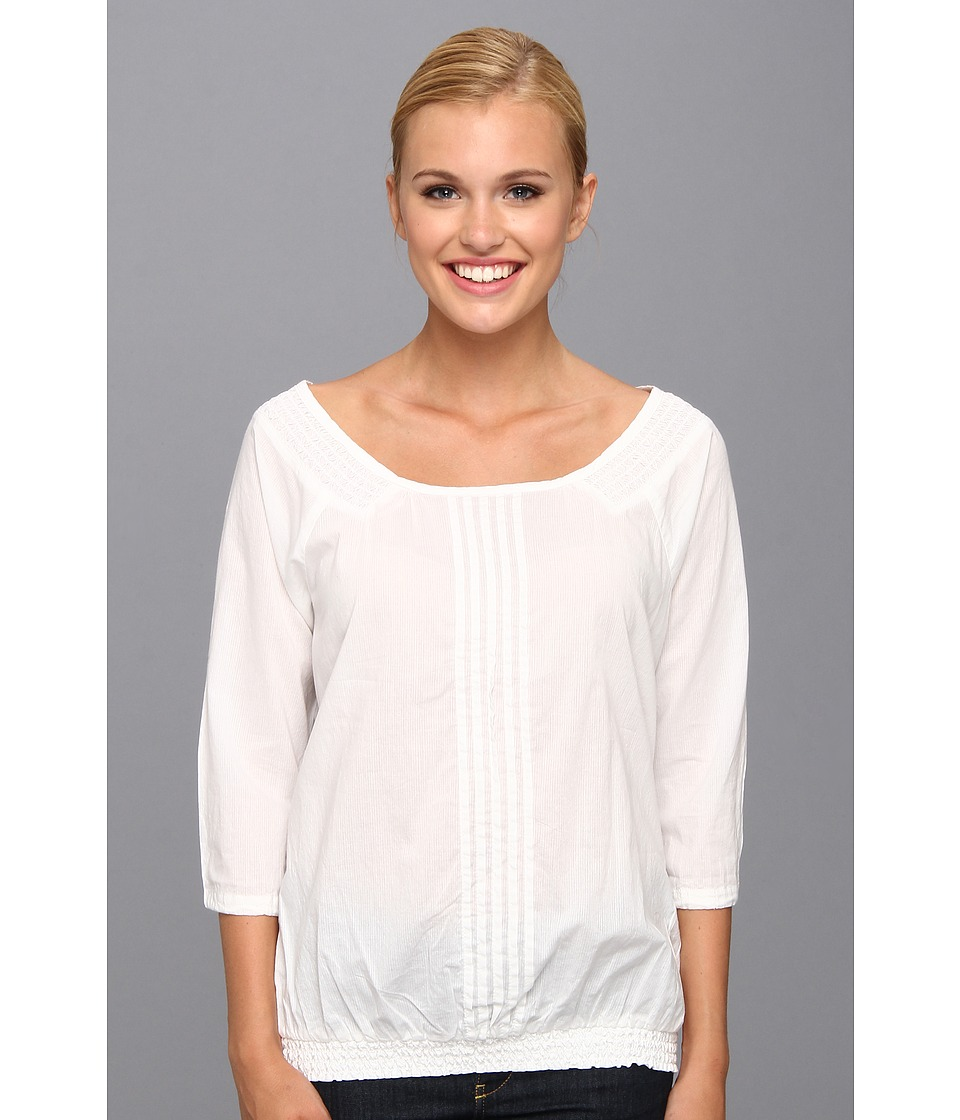 Aventura Clothing - Bevin Peasant Top (White) Women