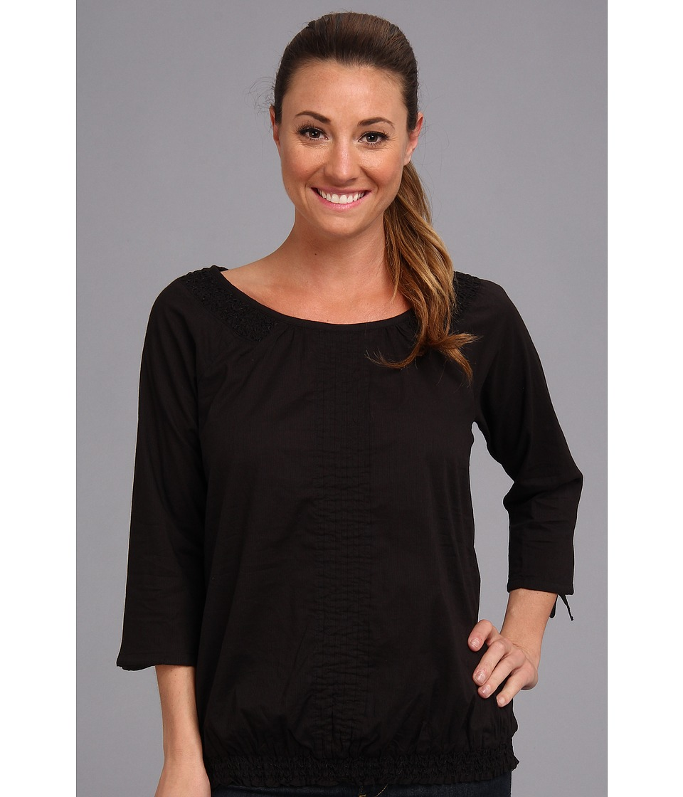 Aventura Clothing - Bevin Peasant Top (Black) Women's Long Sleeve Pullover