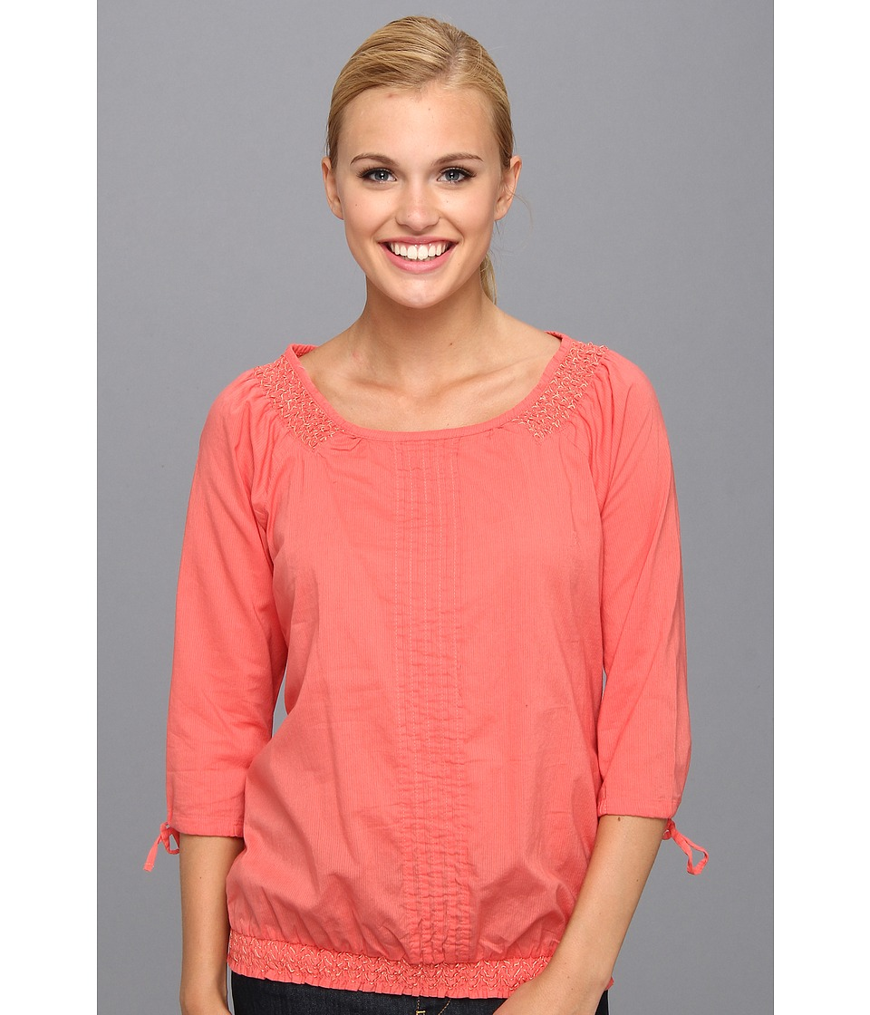 Aventura Clothing - Bevin Peasant Top (Spiced Coral) Women