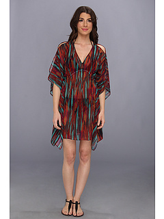 SALE! $51.99 - Save $94 on Vix Napo Lais Caftan Cover Up (Multi) Apparel - 64.39% OFF $146.00