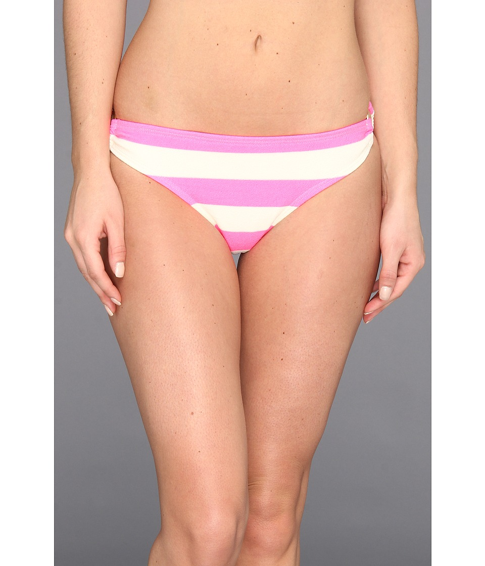 Juicy Couture - Sixties Stripe Classic Bottom w/ Ring Detail (Shell Shock) Women