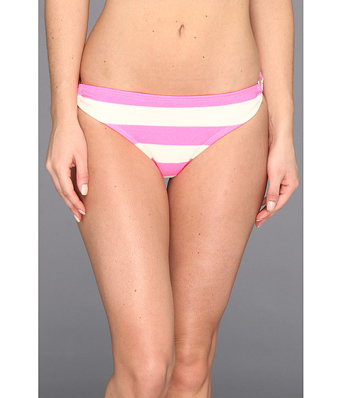 Juicy Couture - Sixties Stripe Classic Bottom w/ Ring Detail (Shell Shock) Women's Swimwear