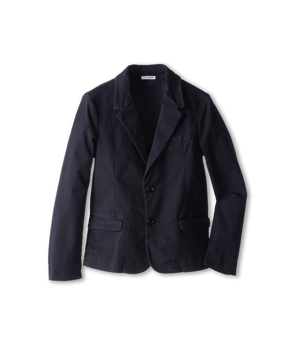 Dolce & Gabbana - Two-Button Waistcoat (Big Kids) (Dark Blue) Men