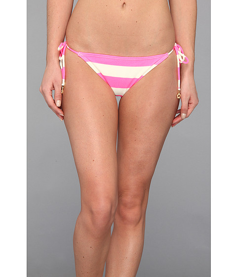Juicy Couture - Sixties Stripe Classic String Bottom (Shell Shock) Women