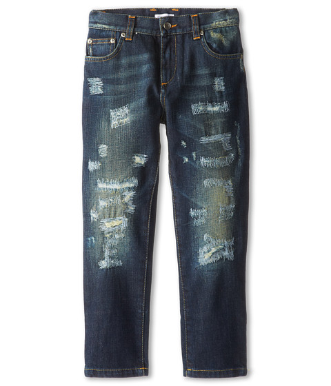 Dolce & Gabbana - Distressed Jean (Toddler/Little Kids) (Blue) Men