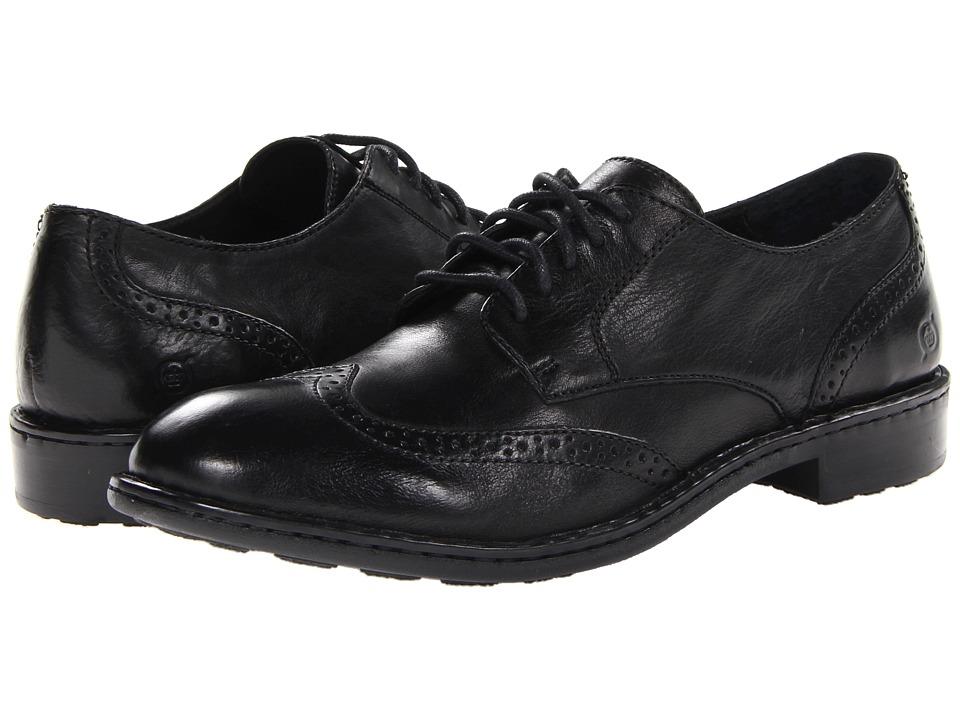 Born - Bainbridge (Black) Men's Lace Up Wing Tip Shoes
