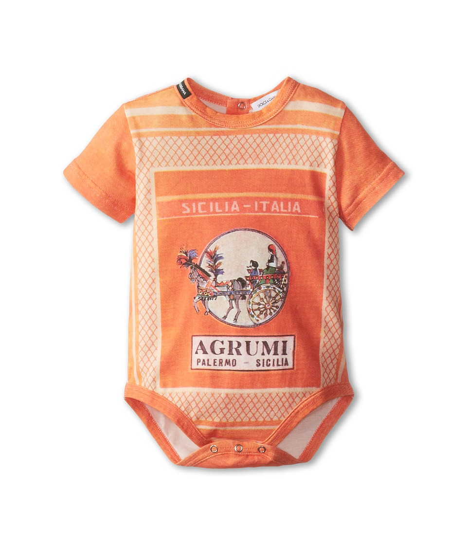 Dolce & Gabbana Kids - Orange Map One-Piece (Infant) (Multi) Boy's Jumpsuit & Rompers One Piece