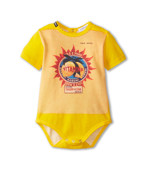 Dolce & Gabbana - Orange Vitamin One-Piece (Infant) (Multi) Men's Jumpsuit & Rompers One Piece