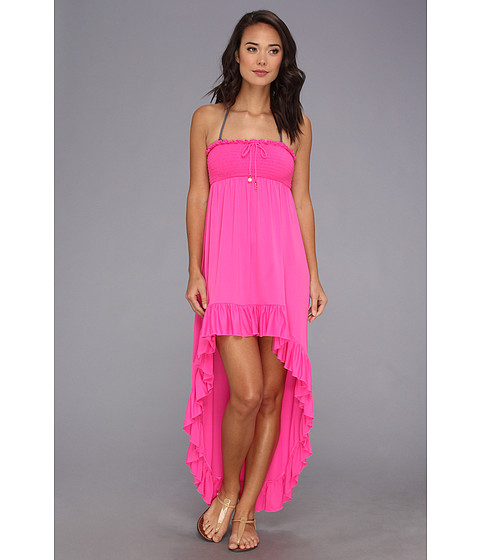 Juicy Couture - Bow Chic Smocked High-Low Hem Cover Up Dress (Beauty) Women