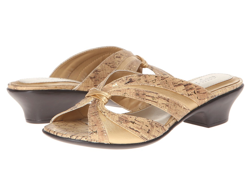 Easy Street - Lorna (Cork with Gold Fleck) Women's Sandals