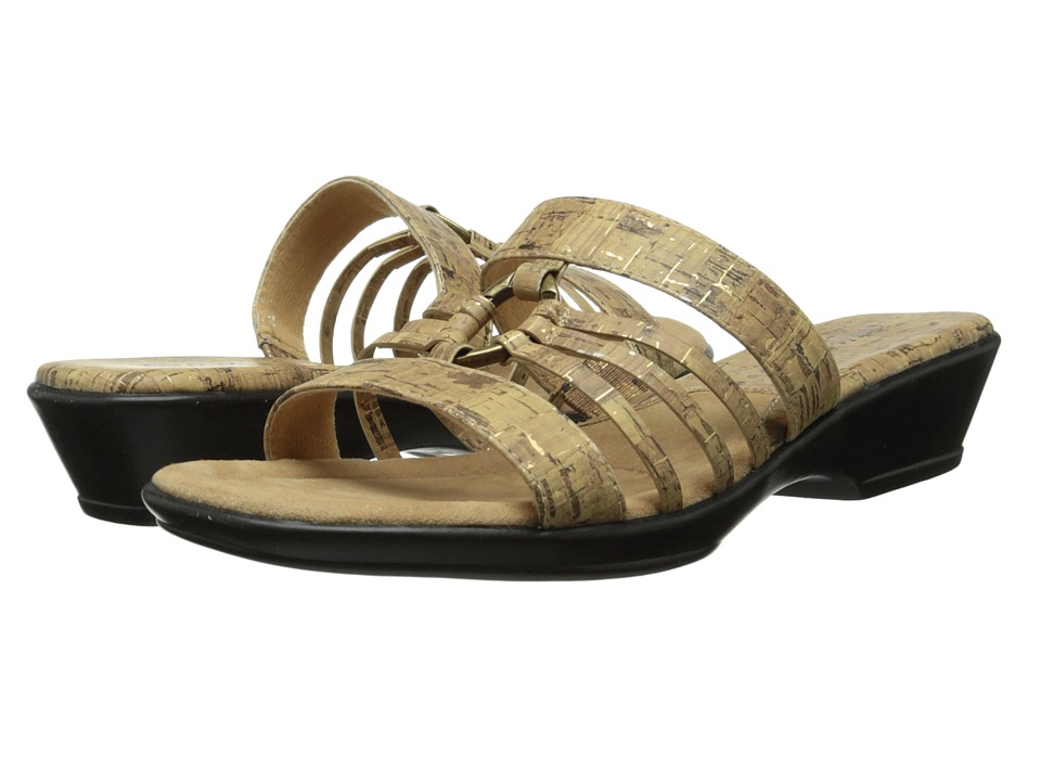 Easy Street - Scorch (Cork w/ Gold Fleck) Women's Slide Shoes