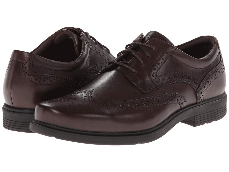 Rockport - Style Tip Wingtip (Brown) Men's Lace Up Wing Tip Shoes