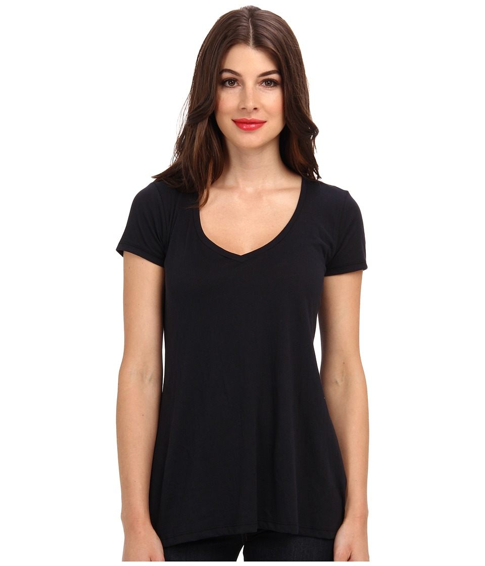 Alternative - Basic V-Neck Tee (Black) Women's T Shirt