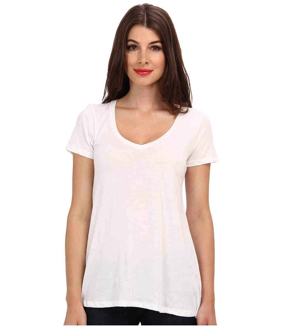Alternative - Basic V-Neck Tee (White) Women's T Shirt