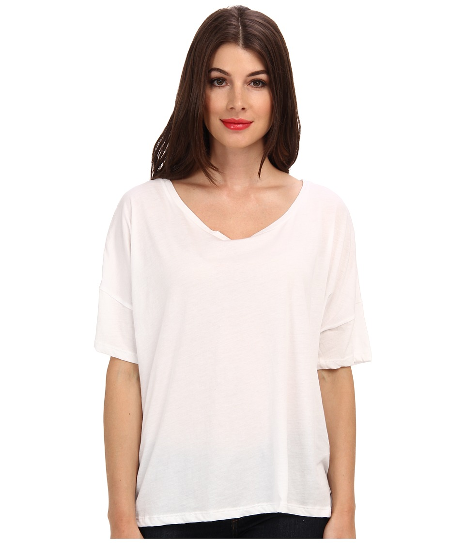 Alternative - Perfect Boxy Tee (White) Women's Short Sleeve Pullover