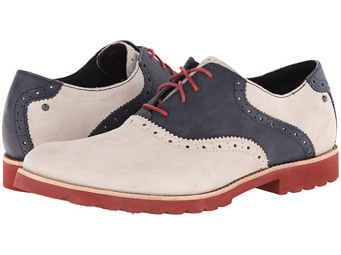 Rockport Ledge Hill Saddle (Light Grey) Men's Lace up casual Shoes