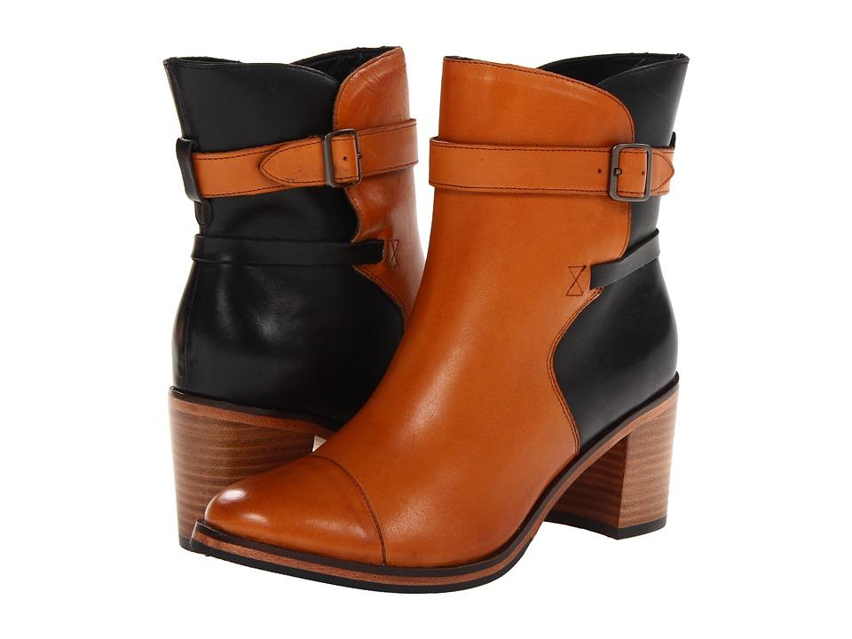 Wolverine - Bonny Pull On Boot (Black/Tan) Women's Shoes