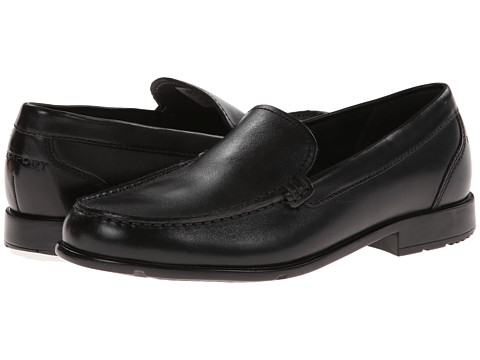 Rockport - Classic Loafer Lite Venetian (Black) Men's Slip on  Shoes