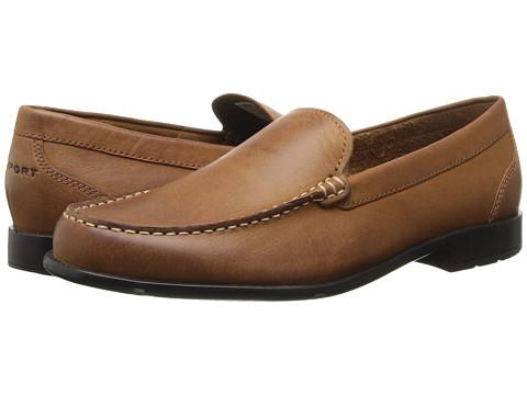 Rockport Classic Loafer Lite Venetian (Caramel) Men's Slip on  Shoes