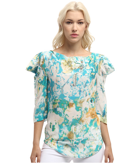Vivienne Westwood Anglomania - Titan Blouse (Turquoise Mirage) Women's Clothing