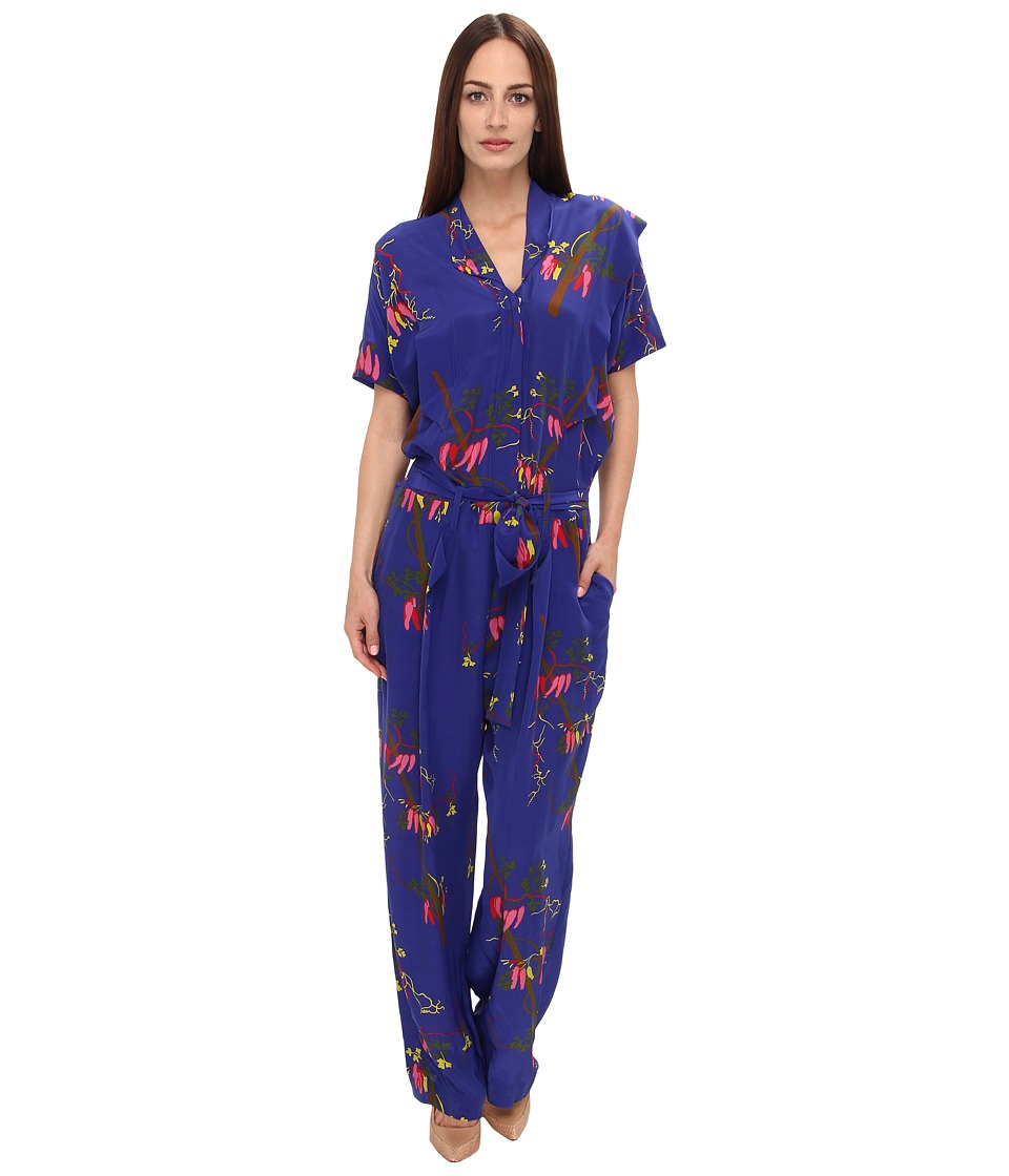 Vivienne Westwood - Firefly Jumpsuit (Cobalt Mayan Orchid) Women's Jumpsuit & Rompers One Piece