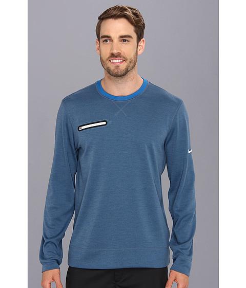 Nike Golf - Sport L/S Crew (Military Blue Heather) Men