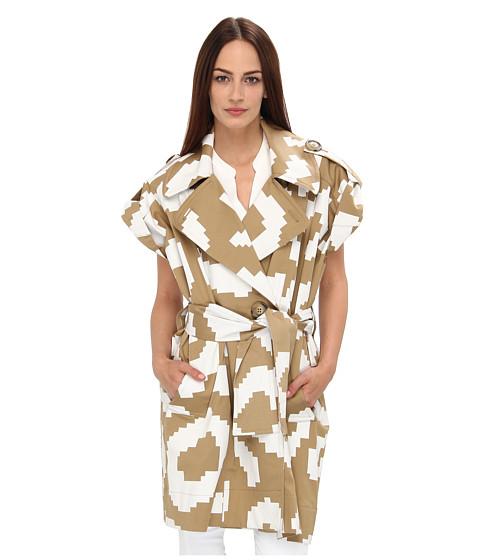 Vivienne Westwood Anglomania - Logan Mac (White Pixel Leopard) Women's Coat