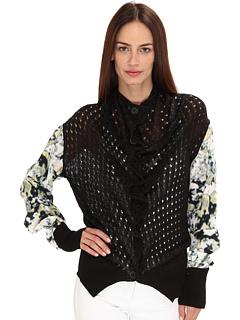 SALE! $136.99 - Save $316 on Vivienne Westwood Anglomania Prospect Cardigan (Black) Apparel - 69.76% OFF $453.00