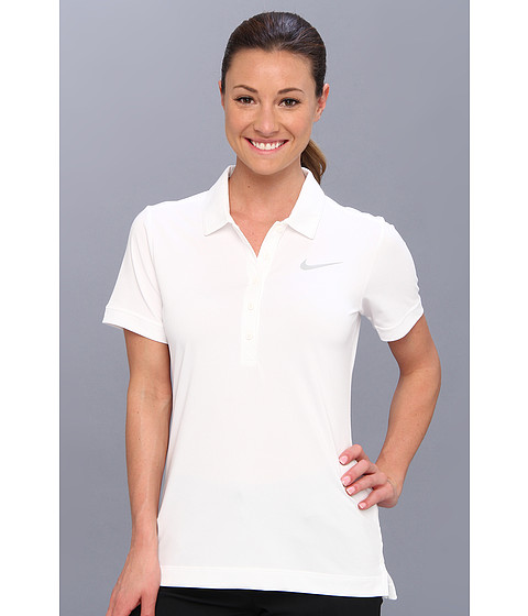 Nike Golf - Sport Swing Polo (White) Women's Short Sleeve Pullover