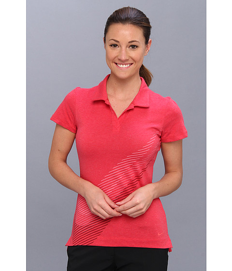 Nike Golf - Sport Swoosh Polo (Legion Red Heather) Women's Short Sleeve Pullover