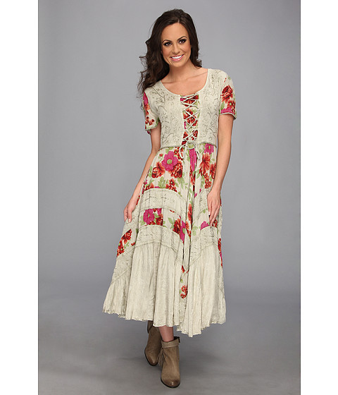 Scully - Honey Creek Ciel Funky Lace Up Dress (Sage) Women