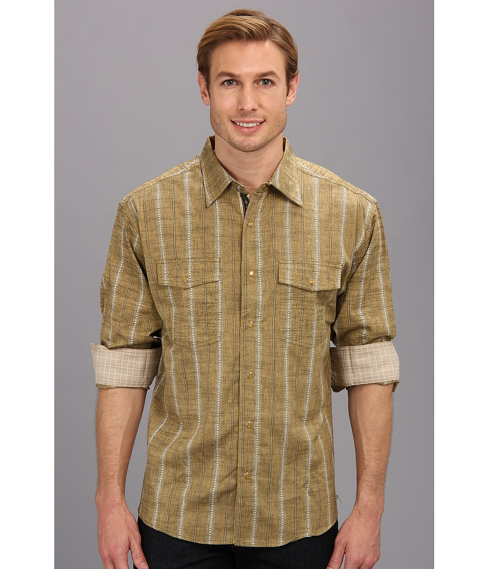 Scully - Scully Border Signature Shirt (Tan) Men