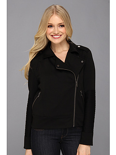 SALE! $66.61 - Save $32 on DKNY Jeans Ponte Knit Moto Jacket (Noir) Apparel - 32.38% OFF $98.50