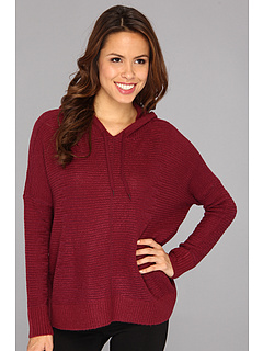SALE! $26.99 - Save $63 on DKNY Jeans Slouchy Luxe Pullover Hoodie Sweater (Plum) Apparel - 69.84% OFF $89.50