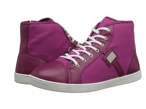 Dolce & Gabbana - High Top Trainer (Little Kid/Big Kid) (Fuchsia) Women's Shoes
