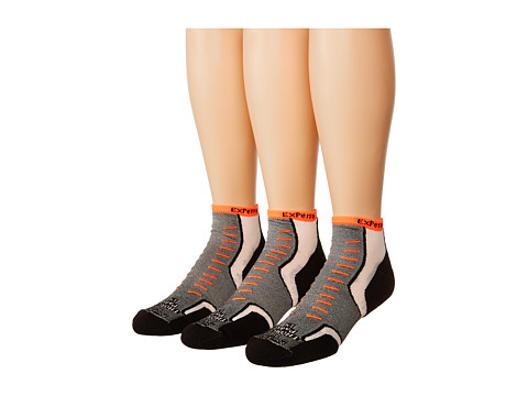 Thorlos - Experia Jet Micro Mini 3 Pair Pack (Jet Orange) Crew Cut Socks Shoes