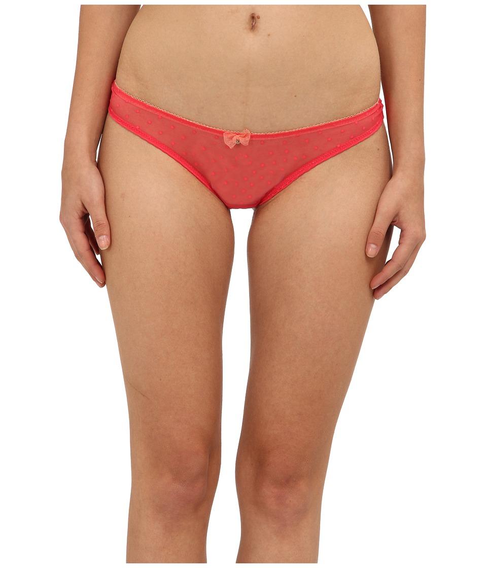 Emporio Armani - Coquette Dotted Mesh Brazilian (Paradise Pink) Women's Underwear