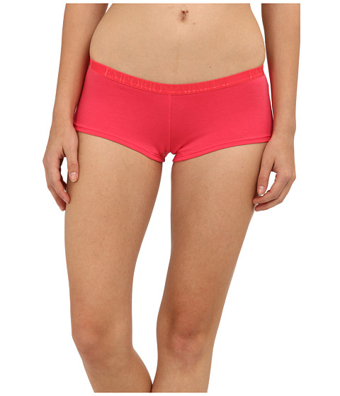 Emporio Armani - Cotton Delight Stretch Cotton With New Logo Culotte (Paradise Pink) Women