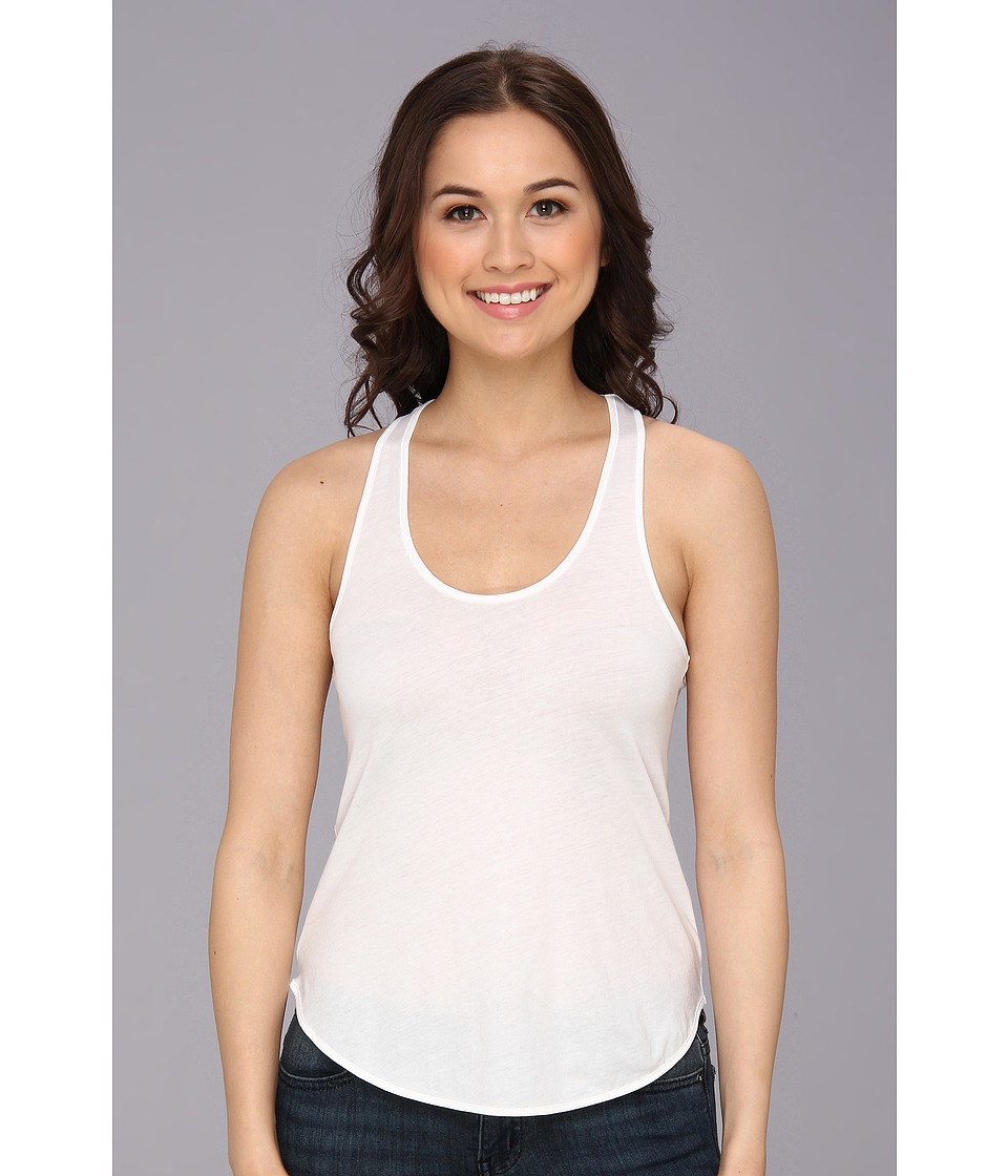 Alternative - Shirttail Racerback Tank Top (White) Women's Sleeveless