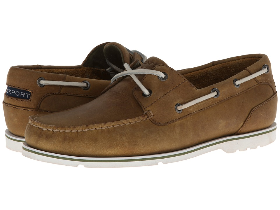 Rockport - Summer Tour 2 Eye Boat (Light Tan) Men's Lace Up Moc Toe Shoes