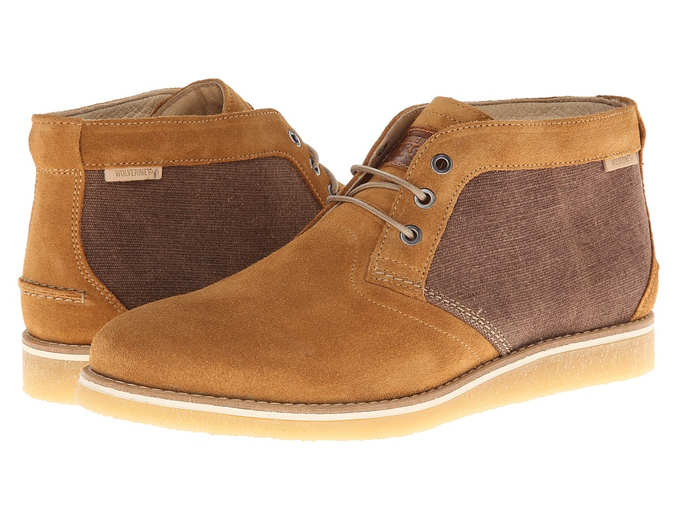 Wolverine - Julian Crepe Chukka (Tan) Men's Lace-up Boots