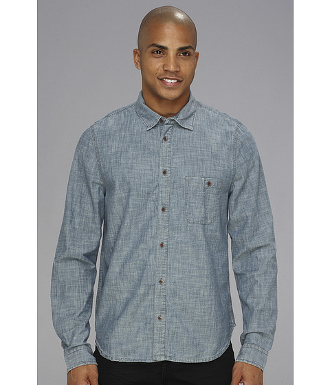 Alternative - Ken L/S Shirt (Indigo) Men's Long Sleeve Button Up
