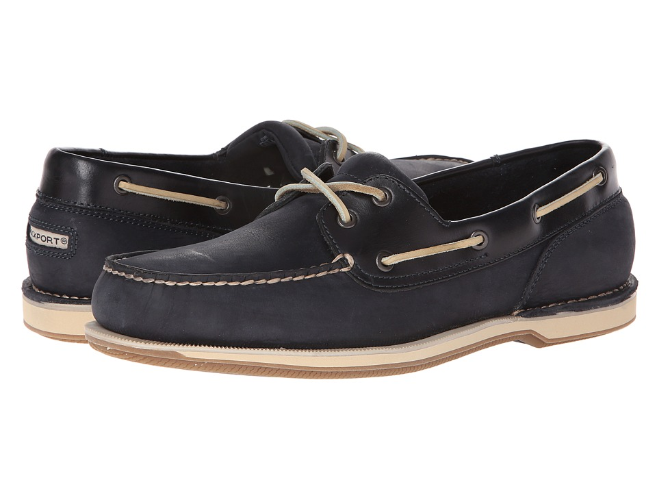 Rockport - Ports of Call Perth (Navy Leather/Nubuck) Men's Lace up casual Shoes