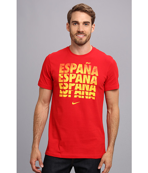 Nike - Spain Core Type Tee (Sport Red/Sport Red) Men's T Shirt