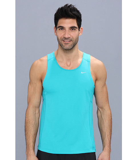 Nike - Miler Singlet (Team) (Turbo Green/Turbo Green/Dark Obsidian/Reflective Silver) Men's Sleeveless
