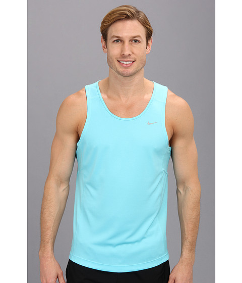 Nike - Miler Singlet (Team) (Polarized Blue/Polarized Blue/Reflective Silver) Men's Sleeveless