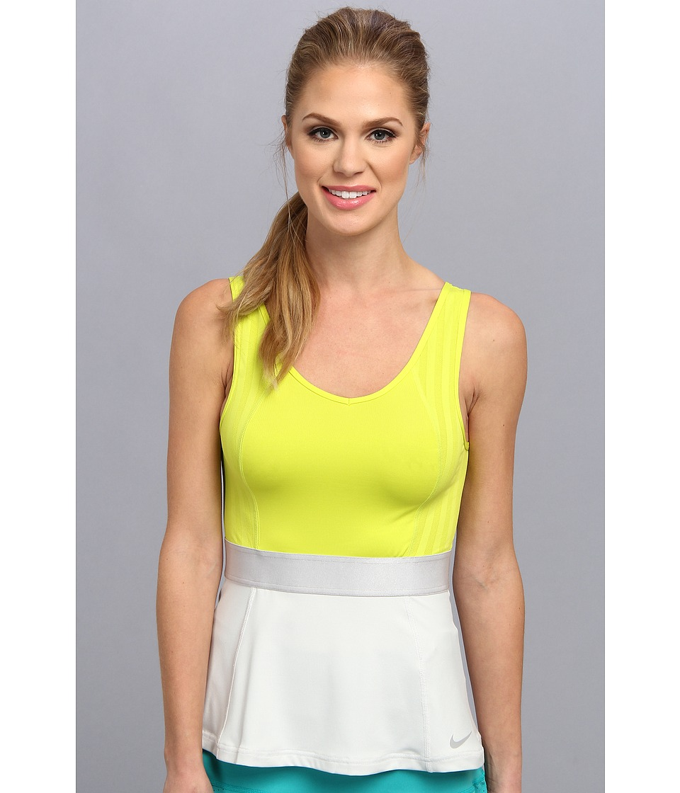 Nike - Novelty Tank Top (Venom Green/Light Base Grey/Metallic Iron Ore) Women's Sleeveless
