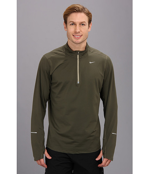 Nike - Element Half-Zip (Cargo Hkaki/Medium Khaki/Reflective Silver) Men