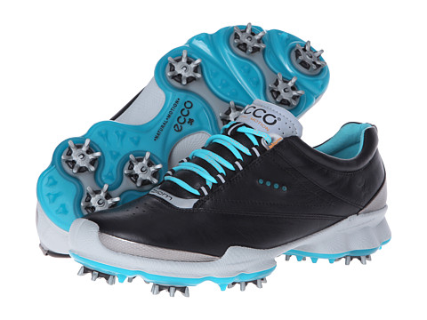 ECCO Golf - Biom Golf (Black/Turquoise) Women's Golf Shoes